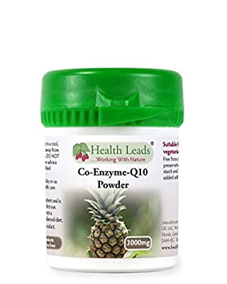 Coenzyme Q10 Powder 3000mg (100% Additive Free) by Health Leads UK