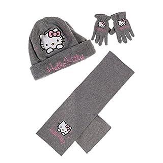 Hello kitty Mädchen Handschuh-Set grau 6-9 Jahre