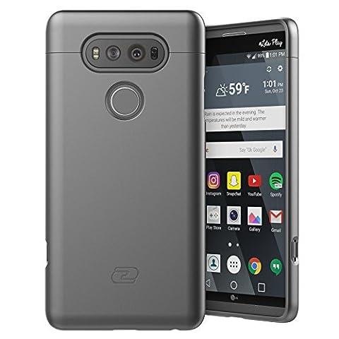 LG V20 Case, Encased Ultra Thin (2016 SlimShield Edition) Full Coverage, Hybrid Tough Shell (Metallic Gray)