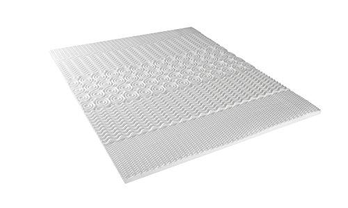 Neorev Topper Surmatelas à Mémoire de Forme Blanc 140 x 190 cm