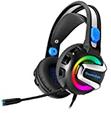 Cosmic Byte G3300 Saturn Rings Gaming Headphone with Mic, 7 Color RGB LED