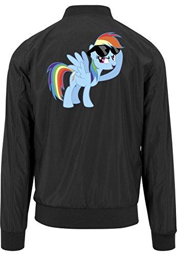 Rainbow Pony Bomberjacke Black Certified Freak-XL