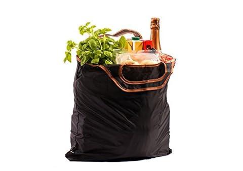 gripOne® Shopper Brown / Einkaufstasche faltbar, extrem reißfest, ultra leicht, kompakt, top Qualität