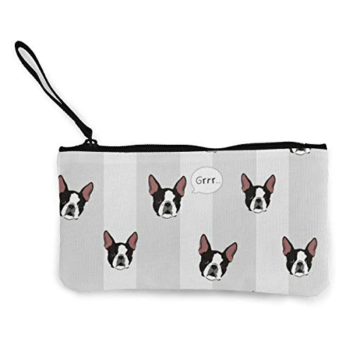 Bargeld Geldbörsen Women Girls Teens Tees Funny Winer Dog Head Canvas Smartphone Wristlets Cash Coin Purses Make Up Bag Cellphone Clutch Purse with Wrist Strap -