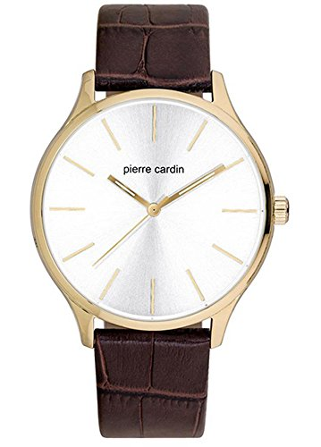 Pierre Cardin Mens Analogue Classic Quartz Watch with Leather Strap PC902151F03