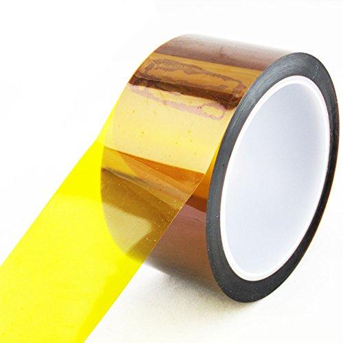 Preisvergleich Produktbild EMOTREE 1x Rolle 33M x 5cm Hitzebeständiges Polyimid Band Kapton Selbstklebend Tape Klebe Streifen