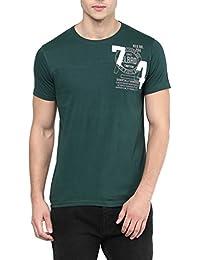 Elaborado Men Round Neck Tshirt - Forest Green