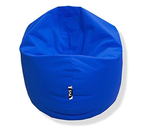 Sitzsack 100cm Durchmesser 2 in 1 | Blau - 300 Liter in 25 Farben und 3 versch. Größen
