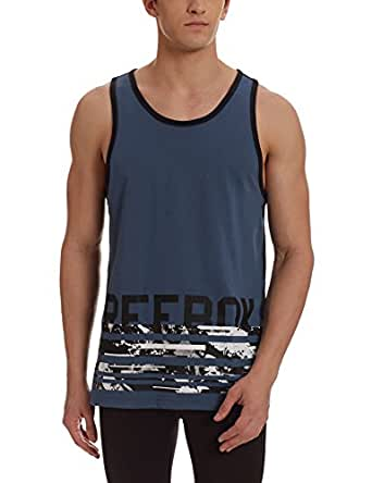 Reebok Men's Round Neck Cotton T-Shirt (4057286079844_BK4701_M_Brablu)