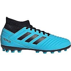 adidas Predator 19.3 AG J, Zapatillas de Fútbol Unisex Niños, Multicolor (Bright Cyan/Core Black/Solar Yellow G25799), 34 EU