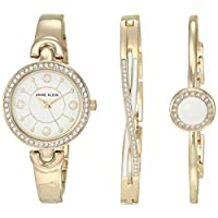 Anne Klein Women's Swarovski Crystal Accented Watch and Bracelet Set, AK/3402