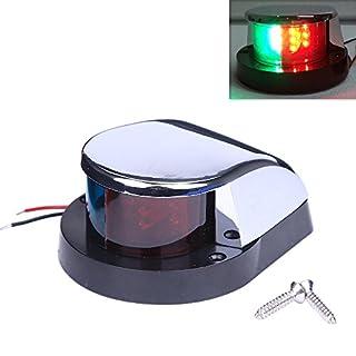 aokur Marine Grade Stainless LED Bi Color Red Green Boat Navigation Light