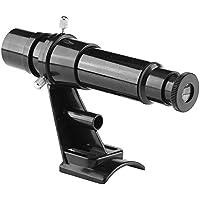 Acouto 5x24 finderscope alcance del puntero de la estrella accesorio de telescopio astronómico con soporte negro