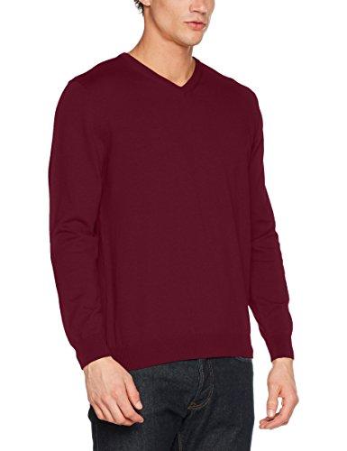 Pierre Cardin Herren Pullover Knit V-Ausschnitt Rot (Classy 8152)