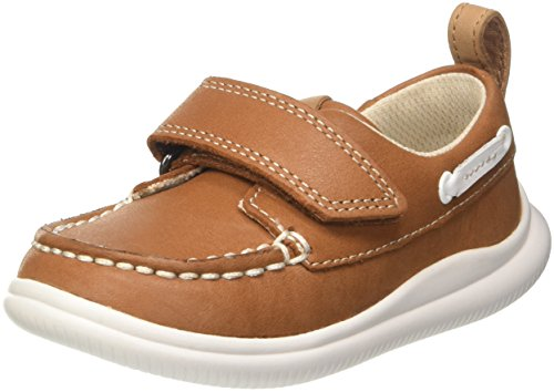 Clarks Cloud Snap, Mocasines Niños, Marrón Tan Leather