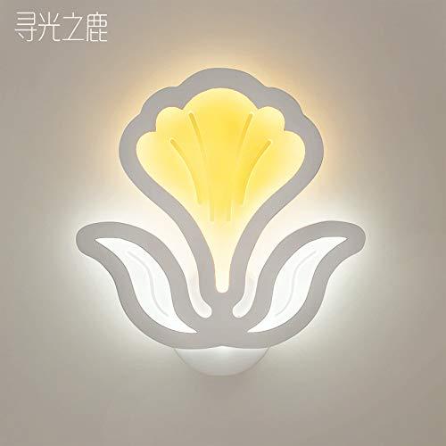 Wandleuchte moderne LED Acryltreppe Flur Schlafzimmer Nachttischlampe, Chinakohl, drei Farblicht