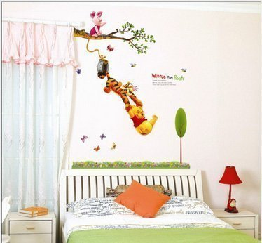 ❤ Walplus Winnie the Pooh Kinder Mädchen Kinder Jungen Zimmer ...
