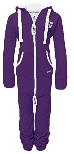 Hoppe Kinder Jumpsuit Overall Jogger Trainingsanzug Mädchen Anzug Jungen Onesie (9-10 Jahre/year, lila)