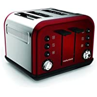 Morphy Richards Accents Special Edition 4 Slice Toaster, Red