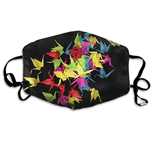 Monicago Einzigartige Unisex-Mundmaske, Gesichtsmaske, Origami Cranes Seamless Graphics Polyester Anti-dust Masks - Fashion Washed Reusable Face Mask for Outdoor Cycling -