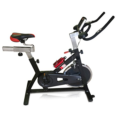 XS Sports Aerobic Indoor Training Exercise Bike-Fitness Cardio Home Cycling Racing-15kg Flywheel with PC + Pulse Sensors