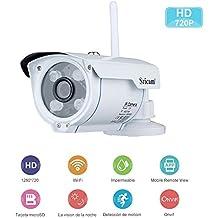 Sricam Cámaras de Vigilancia Wifi con Visión Nocturna,HD 720P P2P IP66 Detección de Movimiento