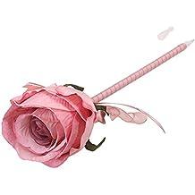 NUOLUX Lindo Bolígrafos hechos a mano de bola de la flor de Rose para el cumpleaños del regalo del día de tarjeta del día de San Valentín del cumpleaños (Rosado)