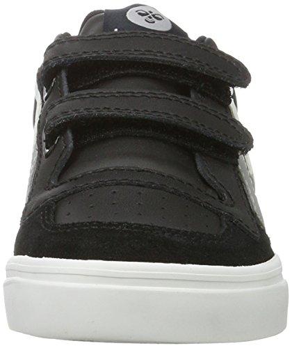 Hummel Stadil Jr Leather, Sneakers Basses Mixte Enfant Noir (Black-675)