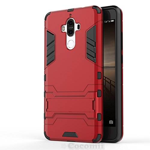 Huawei Mate 9 Funda, Cocomii Iron Man Armor NEW [Heavy Duty] Premium Tactical Grip Kickstand Shockproof Hard Bumper Shell [Military Defender] Full Body Dual Layer Rugged Cover Case Carcasa MHA-L09 L29 (Red)