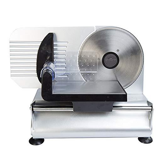 Gaone Allesschneider Brotschneidemaschine Klappbar Elektrisch Präzision Gefrorenes Fleisch Deli Käse-Frucht-Gemüse Nahrungsmittelschneidmaschinen Für Die Schnellen Und Effizienten Slicing 150W,110V