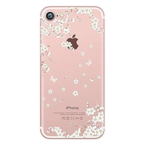 iPhone 7 Clear Case, UCMDA Ultra Lightweight Crystal Soft Gel Cover, Cute Transparent Silicone Shock Absorption Protective Shell Skin Bumper for Apple iPhone 7 4.7