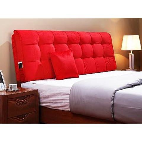 cuero lavable cojines tapizados cabecera cojines de cama cubierta de tela párrafo del respaldo libre de formaldehído esponja ( Color : E , Tamaño : L )