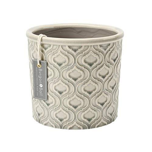 Burgon & Ball Pot de fleurs d'intérieur en céramique Grand Vénitien Gris