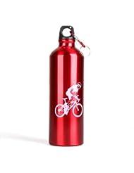 TOOGOO (R) Cantimplora Botella Agua Deporte Ciclismo Camping Aluminio Rojo