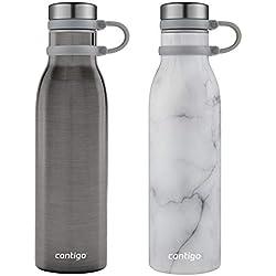 Couture Thermalock Botella de Agua de Acero Inoxidable aislada al vacío, 20 onzas, 2 Unidades, 2 Colores