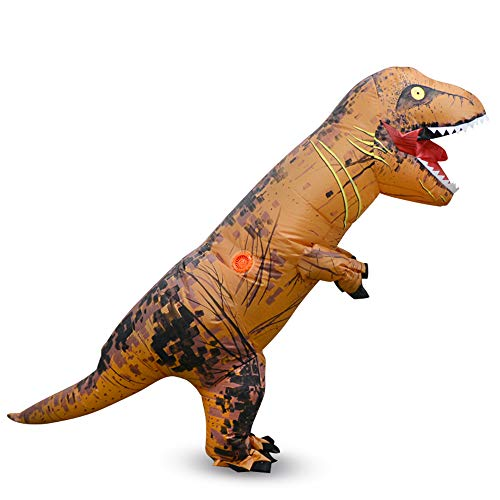 MIMI KING Jurassic World T-Rex Aufblasbare Kostüm, Halloween Dinosaurier Dress Up Lustige Cosplay, Kindergröße