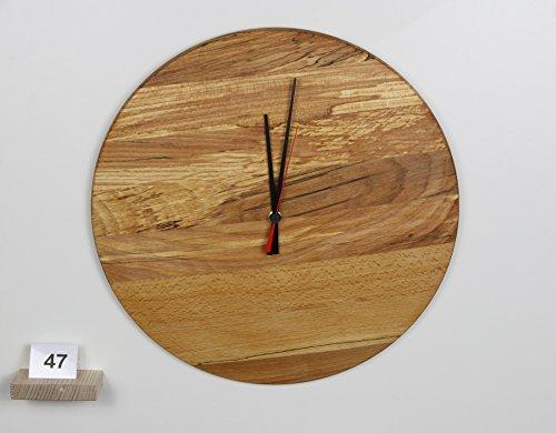 uhr-wanduhr-aus-gestockter-buche-holz-konvex-lautlos-durchmesser-385cm