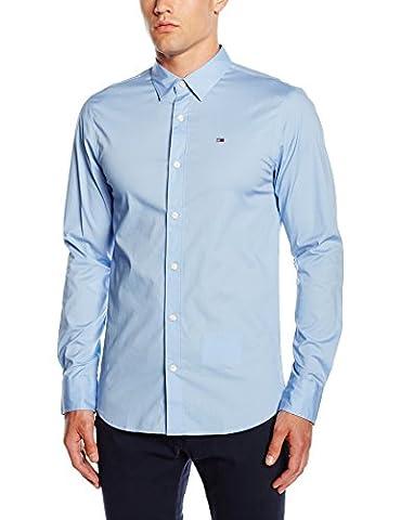 Hilfiger Denim Original stretch, chemise slim fit Homme - Bleu