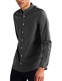 NxtSkin Mandarin Collar Full Sleeves Casual Wear Shirt For Men