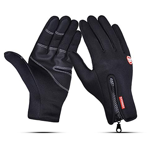 Runature guanti da ciclismo antivento, guanti da touch screen winter running guanti da bici da bici impermeabili da donna per guida sci pattinaggio climbing hunting sports