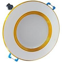 MagiDeal Panel de Techo Empotrada LED Lámpara de Pared Luz de Punto Downlight 3W 3000-6500K - Blanco 10cm