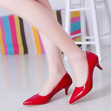 Moda Donna Sandali Sexy donna tacchi Primavera / Estate / Autunno punta chiusa PU Casual Stiletto Heel altri nero / rosso / bianco altri White