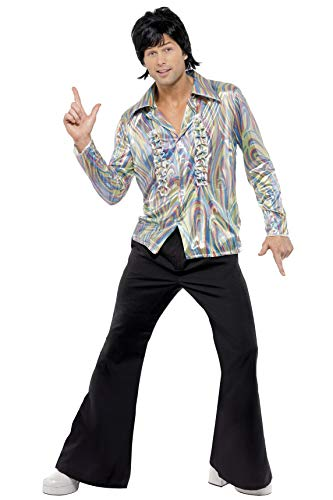 Psychedelic 70s Retro Costume with Shirt and Flares.