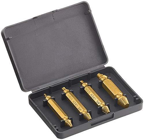 AGT Professional Schraubenausdreher: 4-tlg. Schrauben-Ausdreher-Set aus HSS-Stahl für beschädigte Schrauben (Schrauben Ex)