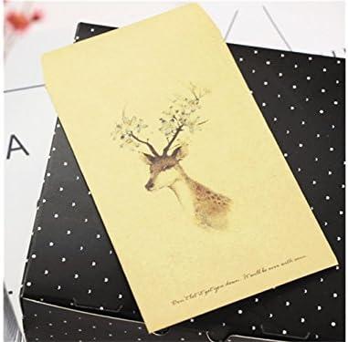 BaBaSM Portable 1 Pc Cerf Desgin Desgin Desgin Artisanat Enveloppe En Papier Kraft Dessin De Couleur Elk Carte Enveloppe Enveloppes (Cerf Fleur)   Pour Gagner L'éloge Chaleureux De La Part Des Clients  5942f0