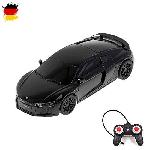HSP Himoto Audi R8 V10 Plus Black Edition - Modellino di Auto da Corsa, telecomandato, Scala 1:24, con Telecomando