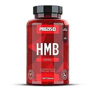 Prozis HMB 3000mg 180 Kapseln - Metabolit von BCAA Leucin - Bodybuilding-Ergänzung zur Minimierung von Muskelverlust - 30 Portionen