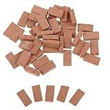 Fenteer 35 Stk. 1/16 Miniatur Backstein Ziegelsteine Dachziegel Modell für Modellbau
