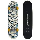 Gemgo 9 Plies Maple Deck Skateboard robusto con modello Doodle