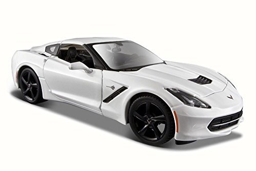 2014 Chevy Corvette Stingray Coupe, White - Maisto 31505 - 1/24 Scale Diecast Model Toy Car by